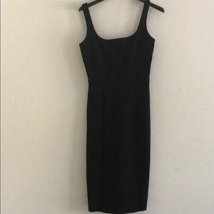 DIANE Von FURSTENBERG black sleeveless midi dress